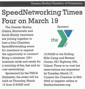Speed Networking Event joining 4 local Chambers of Commerce.